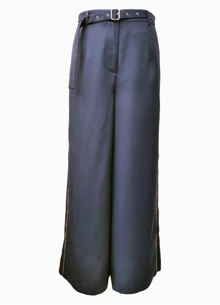 俐落袋飾寬腿褲