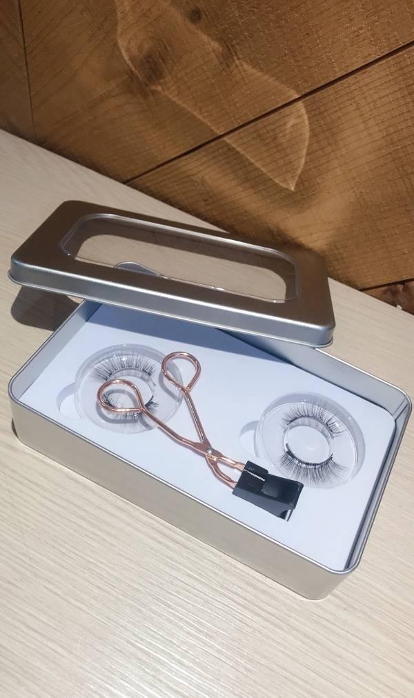 量子磁力睫毛 免膠水磁吸式眼睫毛量子磁鐵睫毛夾假睫毛(3入)銀盒裝 量子磁力睫毛 免膠水磁吸式眼睫毛量子磁鐵睫毛夾假睫毛(3入)銀盒裝