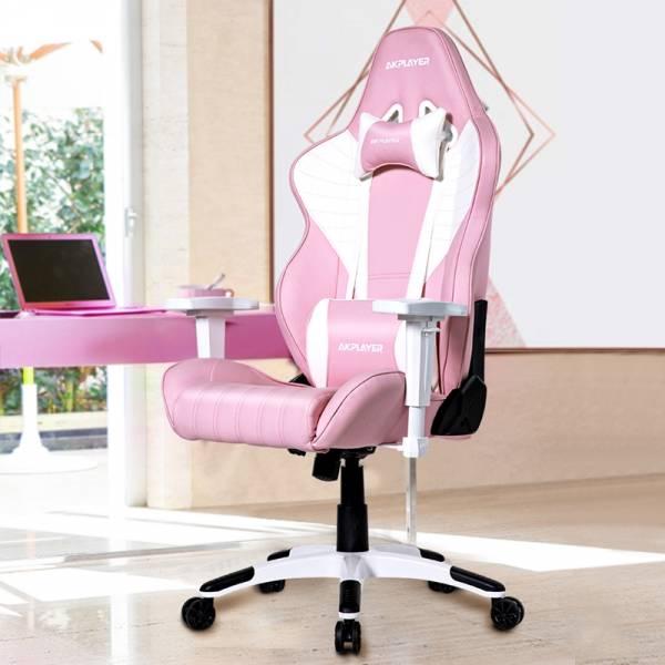 AKPLAYER電競椅粉色可愛少女心女生主播椅家用網紅宿舍椅電腦椅子