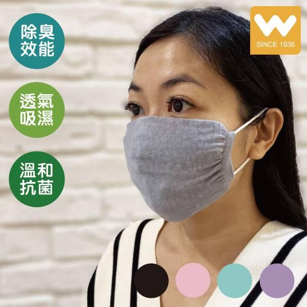 【W 襪品】 素面 抗菌 口罩保護套 口罩套
