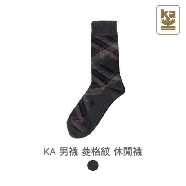 男襪 菱格紋 休閒襪