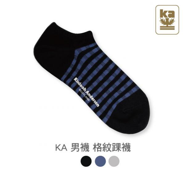 男襪 格紋踝襪