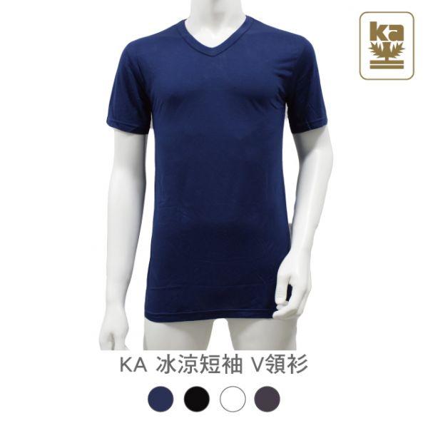 男性 冰涼 短袖  V領衫 KA,金安德森,男性,冰涼,短袖,V領衫