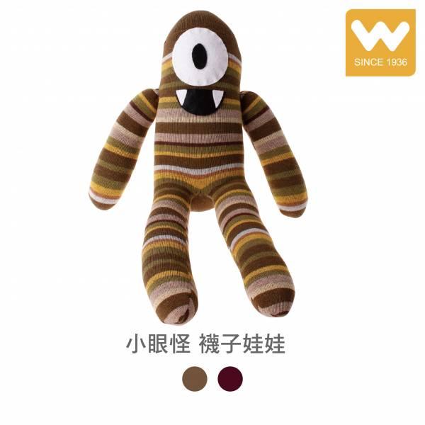 手工 小眼怪 襪子娃娃