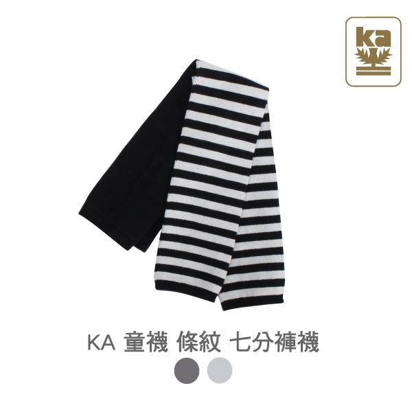 童襪 條紋七分褲襪