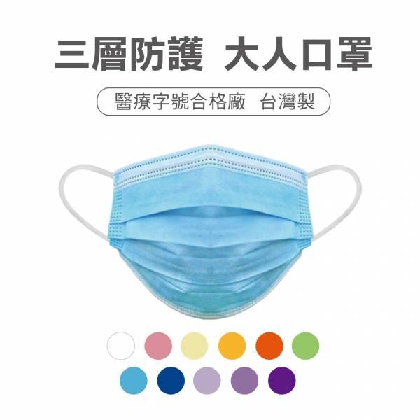 大人 三層防護口罩(50片) 口罩,醫療口罩,防護口罩,口罩套