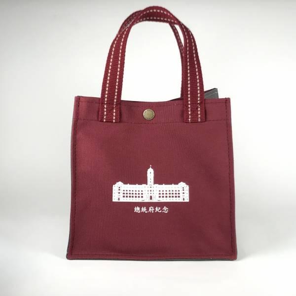 總統府紀念方形帆布提袋(暗紅色)