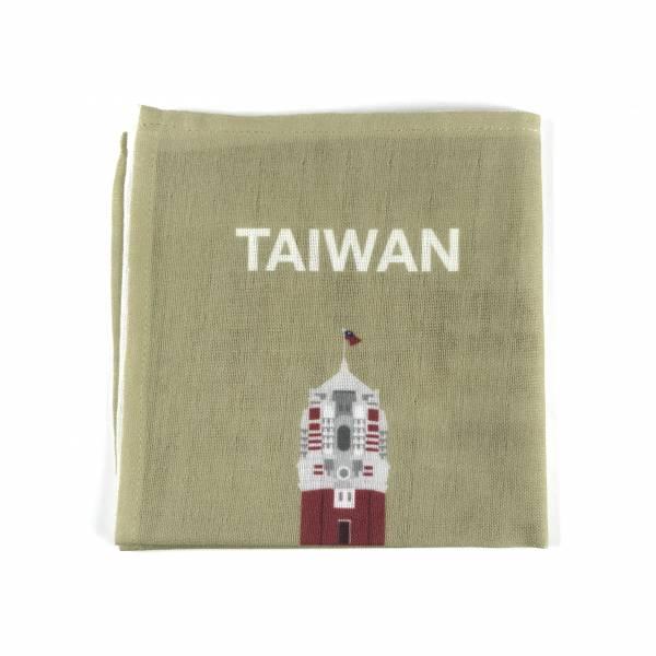 總統府紀念純棉手帕(豆綠色)