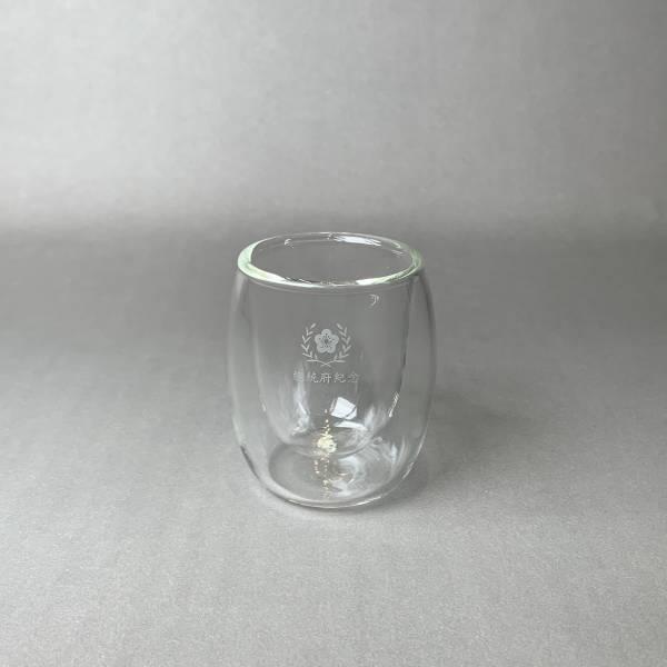府徽迷你雙層玻璃杯