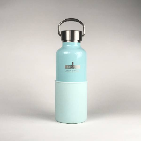 總統府紀念保溫瓶(粉藍色)