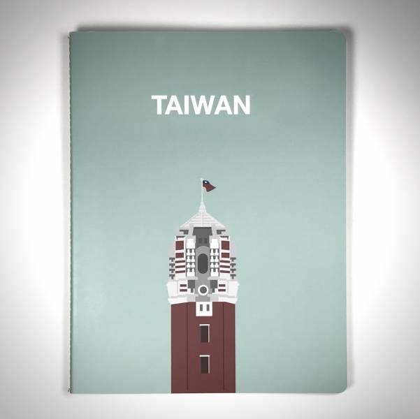 「TAIWAN出頭」筆記本(灰綠色)