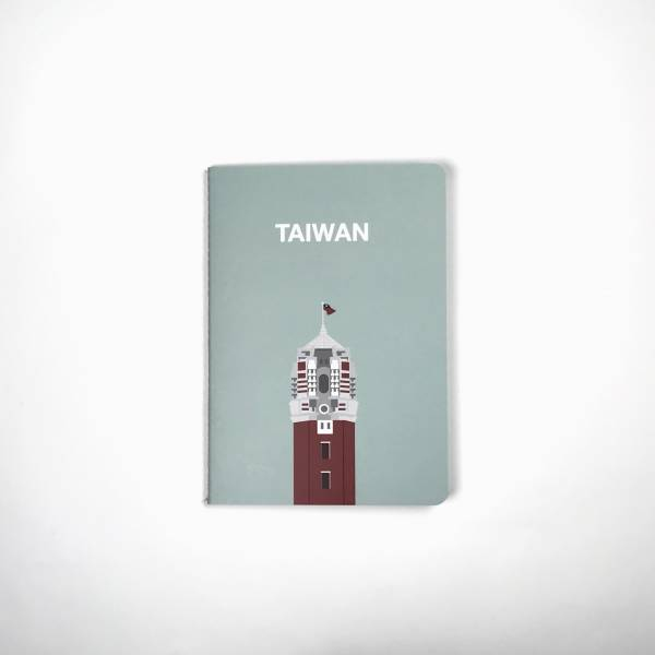 """""""Taiwan Forges Ahead"""" A6 Notebook - Gray Green"""