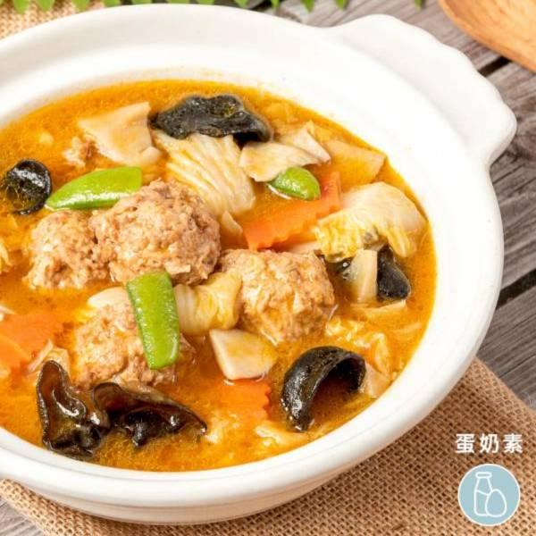 祥和蔬食-蟹黃獅子頭(米其林推薦)