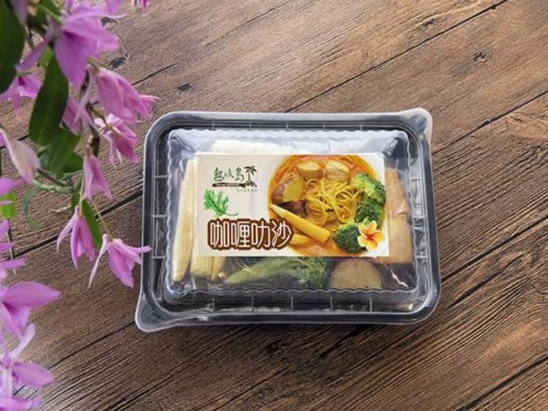 咖哩叻沙烏龍麵 咖哩叻沙,叻沙,叻沙麵,微波食品,即食品,南洋料理