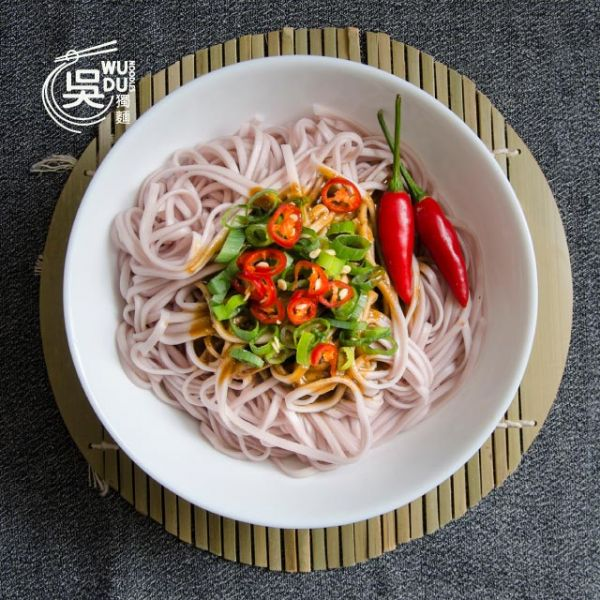 紫地瓜米豆簽+味噌辣椒醬(含醬)
