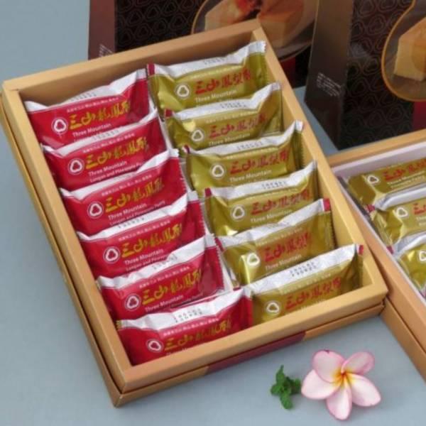 龍鳳雙喜禮盒(12入) 中秋禮盒,團購美食,伴手禮,餅乾組合,三山脊損,鳳梨酥,龍鳳酥,傳統古早味
