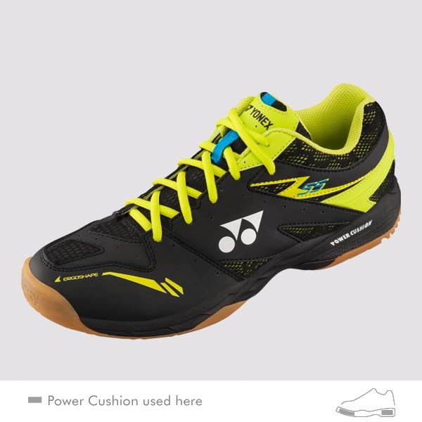 YONEX POWER CUSHION 55 男女羽球鞋(黑/綠) YONEX,55EX,羽球鞋,男女款