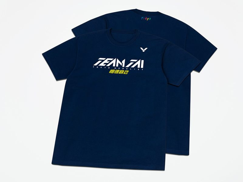 VICTOR T-2170 B 戴資穎東京奧運奪牌紀念T-Shirt (中性款) VICTOR, T-2170 B,戴資穎,TEAMTAI, 東京奧運,奪牌紀念T-Shirt