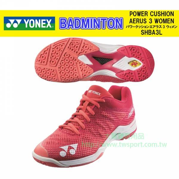 YONEX POWER CUSHION AERUS 3 女羽球鞋 YONEX,A3L,羽球鞋,女