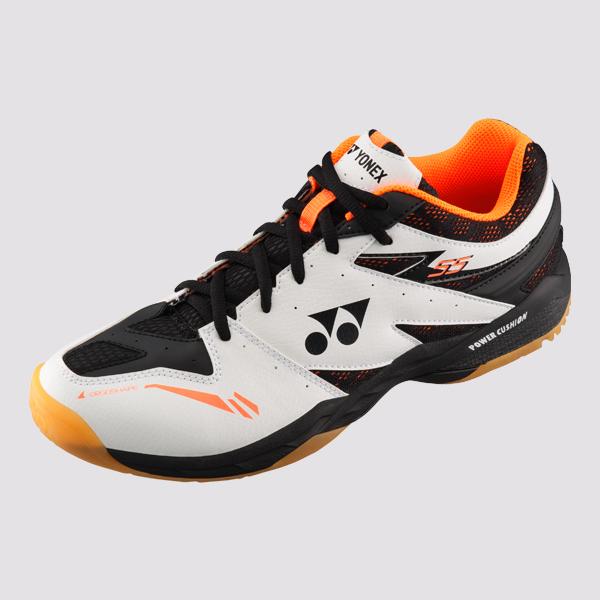 YONEX POWER CUSHION 55 男女羽球鞋(白/橘) YONEX,55EX,羽球鞋,男女款