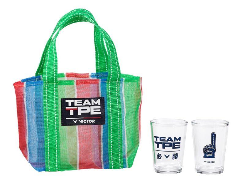 VICTOR C-P0054 中華隊奧運應援玻璃對杯  VICTOR,C-P0054,運動毛巾,中華隊,奧運,應援,玻璃對杯