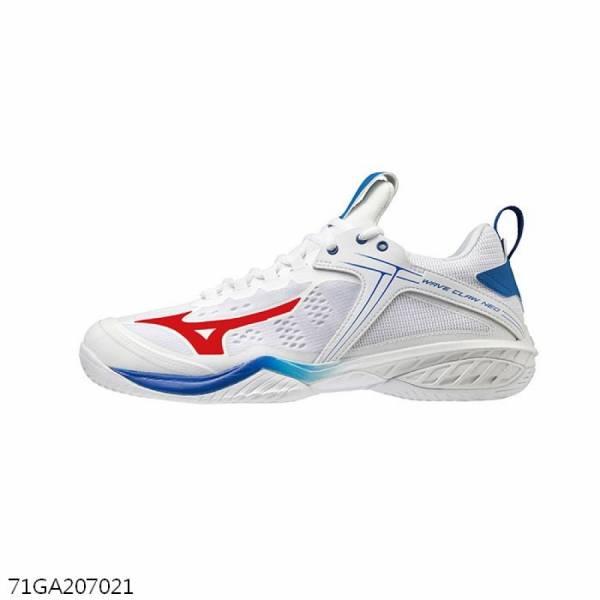 MIZUNO 羽球鞋 WAVE CLAW NEO (白/藍)  MIZUNO,71GA207021,羽球鞋