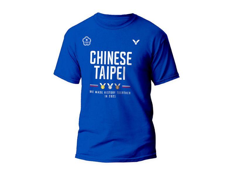 VICTOR T-2171B 東京奧運中華隊官方紀念T-Shirt (中性款) VICTOR,T-2171B,東京奧運,中華隊,官方紀念T-Shirt,中性款