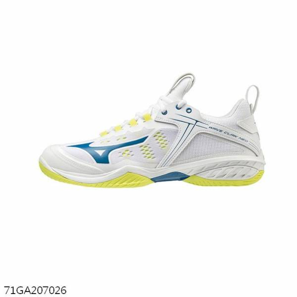 MIZUNO 羽球鞋 WAVE CLAW NEO (白/綠)  MIZUNO,71GA207026,羽球鞋