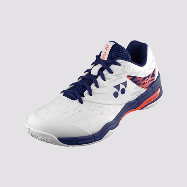 YONEX POWER CUSHION 57 男女羽球鞋(白/橘) YONEX,57EX,羽球鞋,男女款