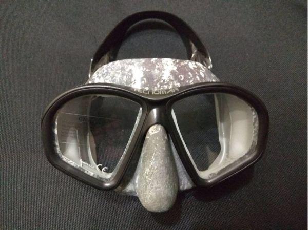 西班牙 Tecnomar 低容積面鏡 灰迷彩 自潛,漁獵,海人潛水,自由潛水,面鏡,自潛面鏡,低容積面鏡,Tecnomar面鏡