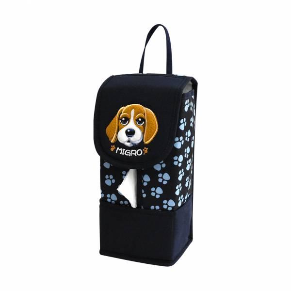 【YL】GS105 米格魯狗面紙套 -藍 面紙套,衛生紙盒,收納,車用收納,置物