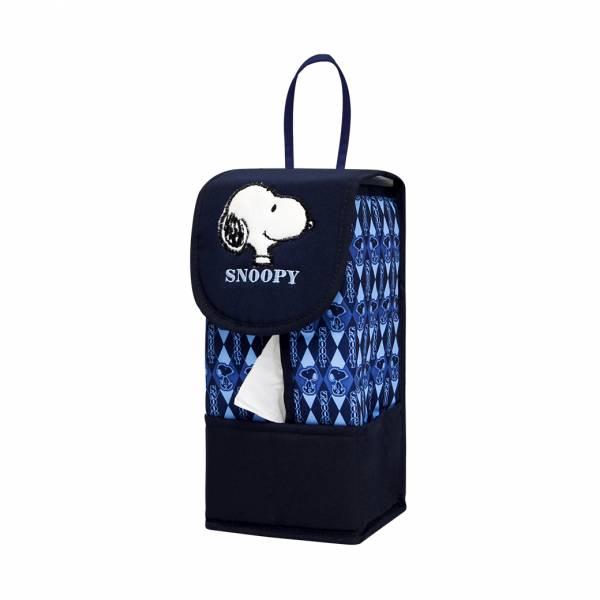 【YL】HB101 史努比吊式面紙套-藍 面紙套,衛生紙盒,收納,車用收納,置物