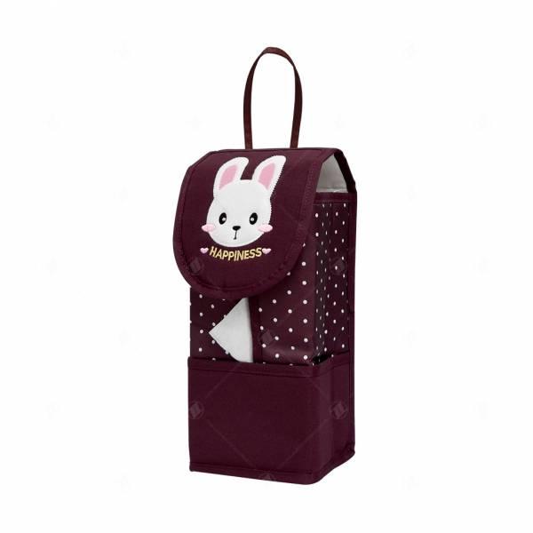 【YL】幸福兔面紙套-紅 面紙套,衛生紙盒,收納,車用收納,置物