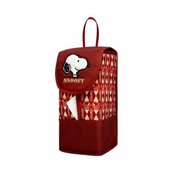 【YL】HB102 史努比吊式面紙套-紅 面紙套,衛生紙盒,收納,車用收納,置物