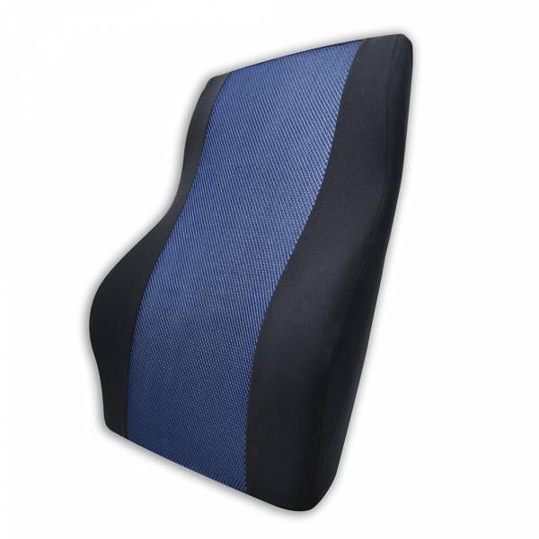 【POWER】PW-214-1 超透氣記憶長腰墊(藏青) 腰枕,靠墊,腰靠,靠腰,記憶海綿,百貨批發