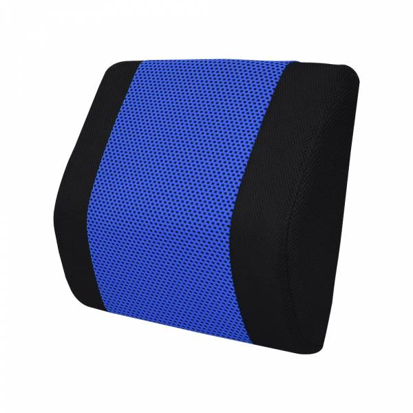 【POWER】SF-1046全方位護腰墊-藍 腰枕,靠墊,腰靠,靠腰,記憶海綿,百貨批發