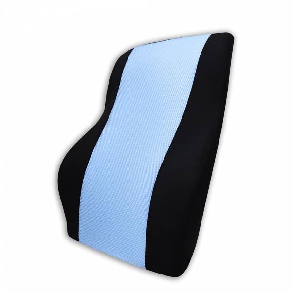 【POWER】PW-214 超透氣記憶長腰墊(蔚藍) 腰枕,靠墊,腰靠,靠腰,記憶海綿,百貨批發