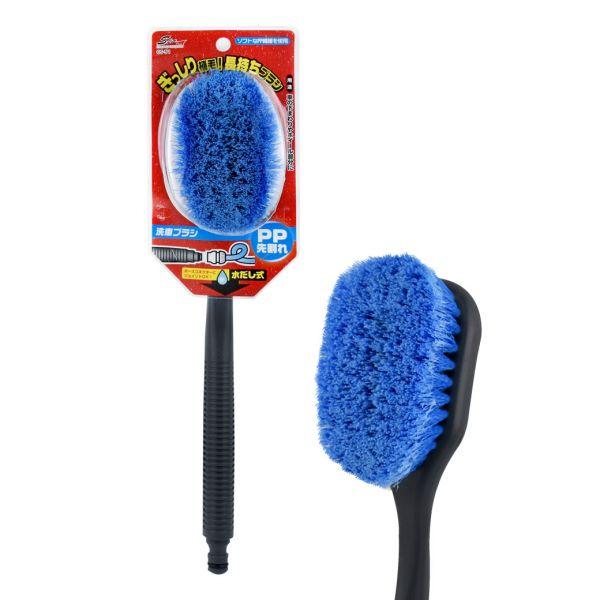 【WAKO】CS-51 可接水管附柄洗車刷-藍