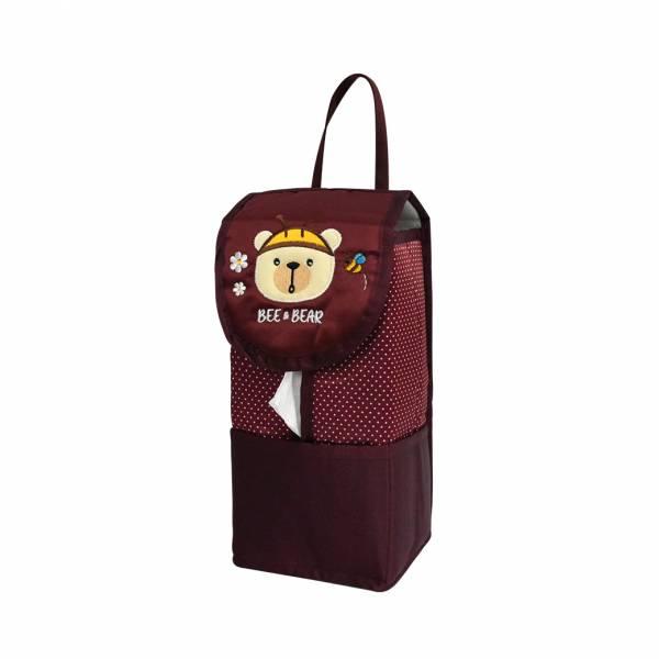 【YL】F105 蜜蜂熊面紙套 -紅 面紙套,衛生紙盒,收納,車用收納,置物