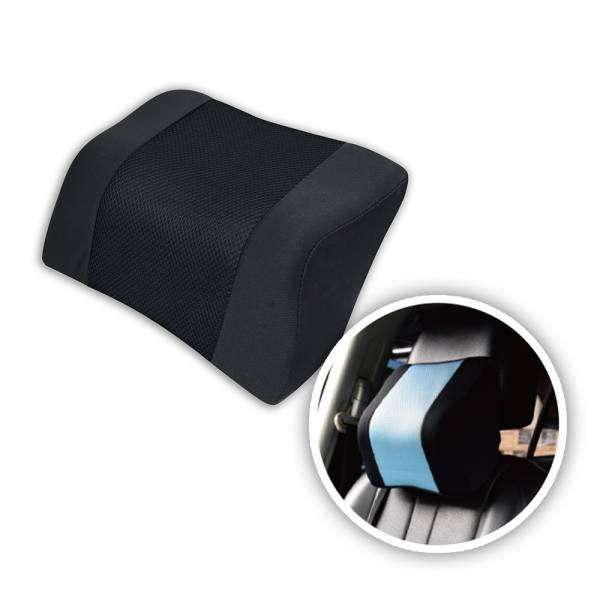 【POWER】PW-211 超透氣記憶護頸枕-黑 頭枕,枕頭,駕駛座枕頭,護頸枕,車用頭枕,百貨批發