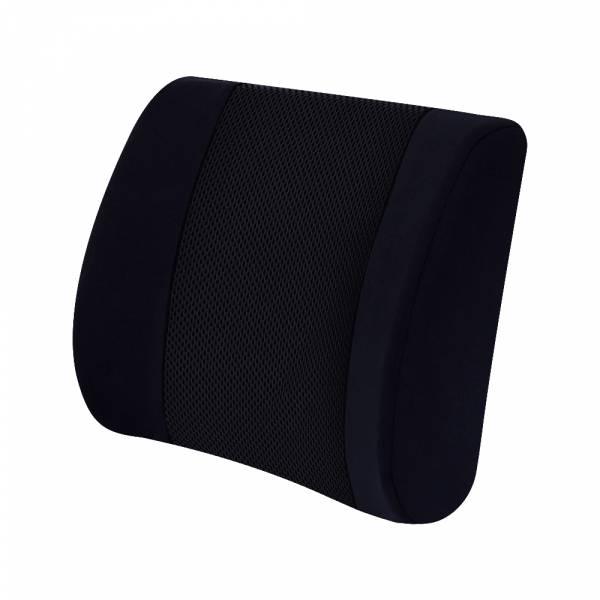 【POWER】PW-209-冰涼記憶海綿護腰墊-黑 腰枕,靠墊,腰靠,靠腰,記憶海綿,百貨批發