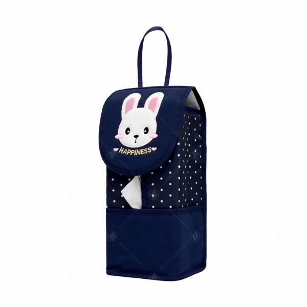 【YL】幸福兔面紙套-藍 面紙套,衛生紙盒,收納,車用收納,置物