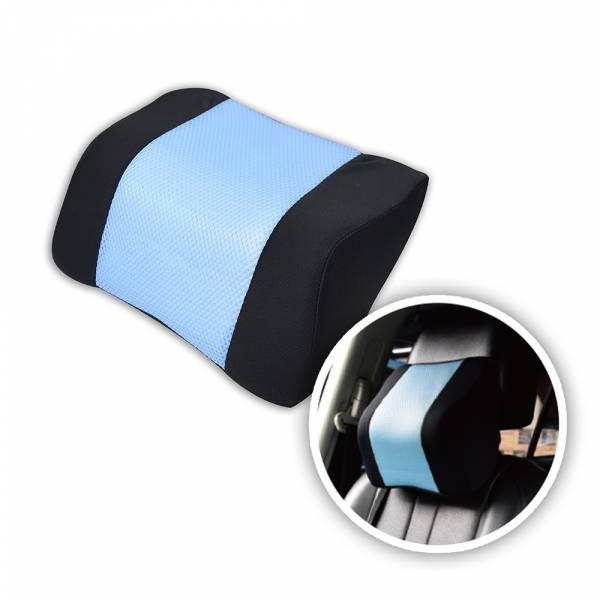 【POWER】PW-211 超透氣記憶護頸枕(蔚藍) 頭枕,枕頭,駕駛座枕頭,護頸枕,車用頭枕,百貨批發