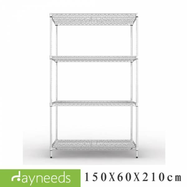荷重型 150x60x210公分 四層電鍍波浪架 層架,收納架,置物架,鐵力士架,dayneeds