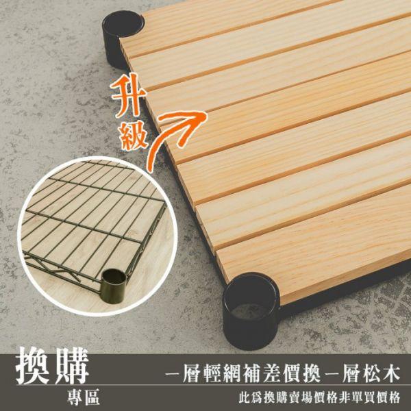 限換購【60x30cm 一層輕型網片加價換一層松木層板】