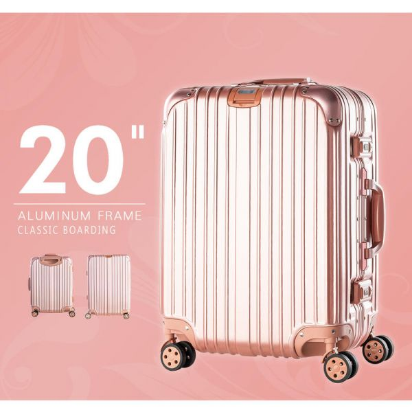 經典鋁框拉桿箱 20吋  兩色可選 登機箱,拉桿箱,行李箱,爬梯行李箱,海關鎖,dayneeds