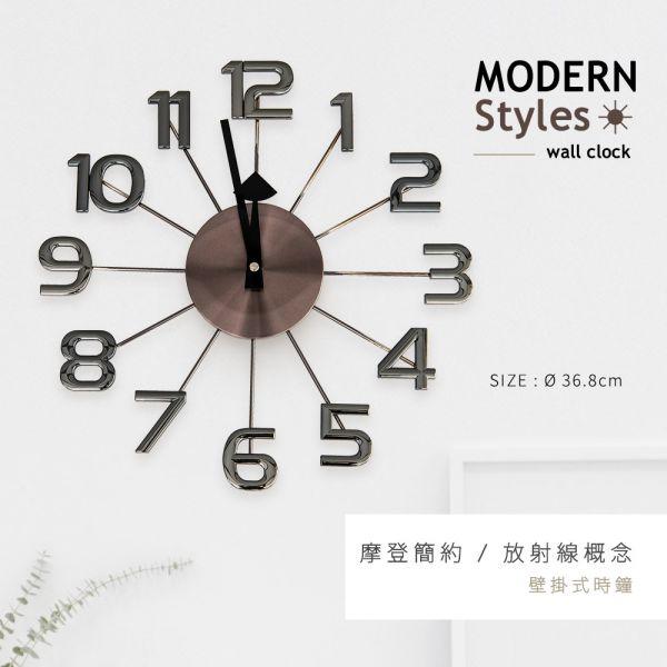 幾何造型[摩登風放射線]壁掛式時鐘 掛鐘,數字鐘,壁鐘,時鐘,客廳掛鐘,擺飾,dayneeds