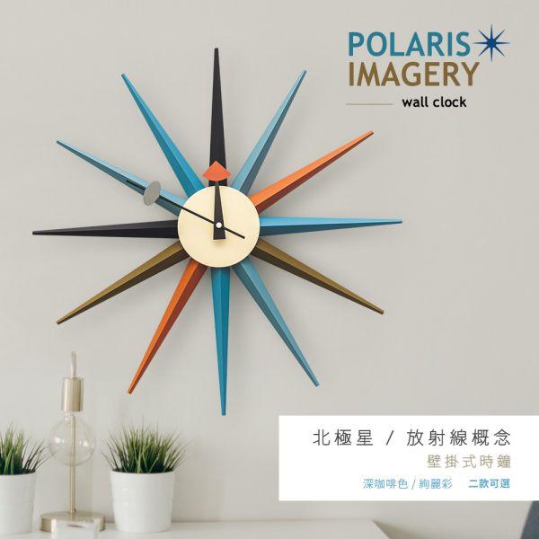 幾何造型[北極星]壁掛式時鐘 二款可選 掛鐘,數字鐘,壁鐘,時鐘,客廳掛鐘,擺飾,dayneeds