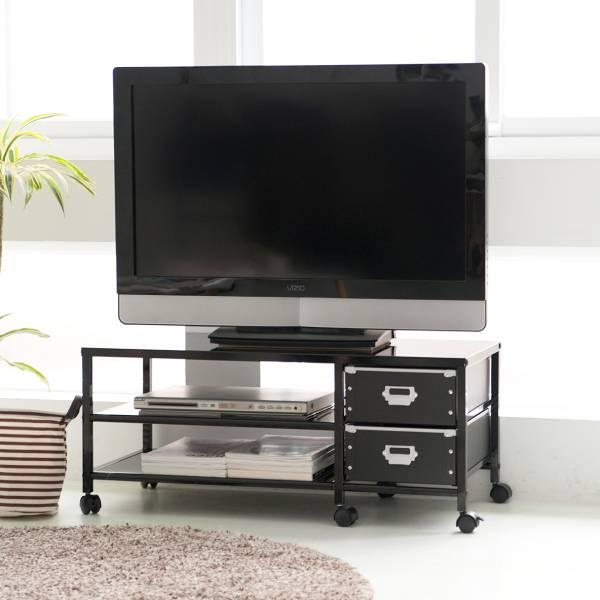 鐵製電視櫃含收納盒 電視,電視櫃,電視架,置物架,收納架,推車,含輪,dayneeds