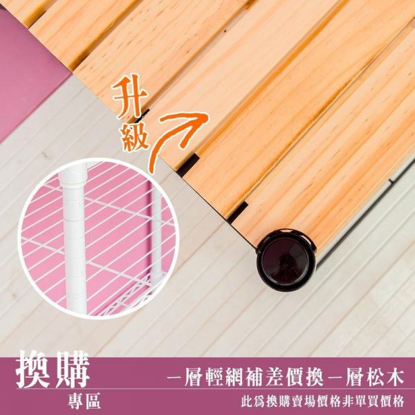 限換購【120x45cm 一層輕型網片加價換一層松木層板】